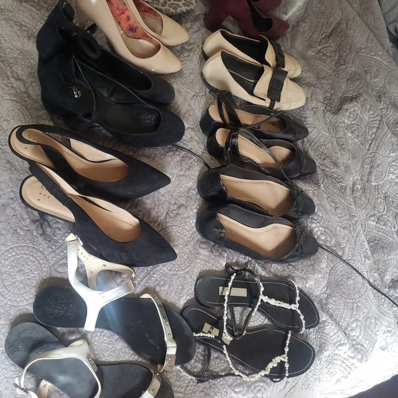 Lot of 10 size 11 assorted branded used shoes